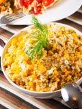 Quinoa with corn salad Royalty Free Stock Photos