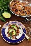 Quinoa cuit dans le style mexicain photographie stock
