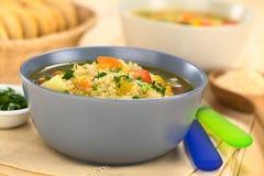 Quinoa e sopa vegetal Imagens de Stock