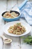 Quinoa en bulgur pilau Stock Afbeeldingen