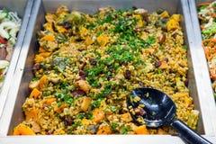 Quinoa en pompoensalade Royalty-vrije Stock Afbeeldingen