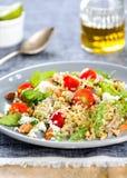 Quinoa with Feta and Rocket salad Stock Image