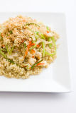 Quinoa with fish and vegetables Stock Photos