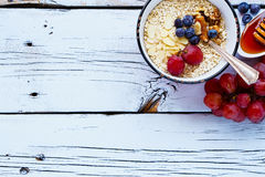 Quinoa flakes for breakfast stock images