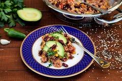 Quinoa gotujący w meksykanina stylu obrazy stock