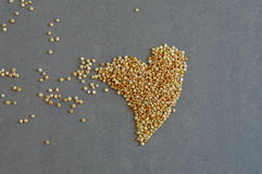 Quinoa Grains in Heart Shape Royalty Free Stock Image