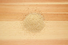 Quinoa grains on wood Stock Photo