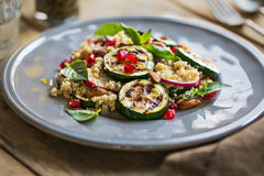 Quinoa with grilled courgette salad Stock Images
