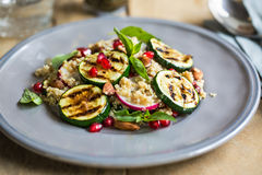 Quinoa with grilled courgette salad Stock Photo