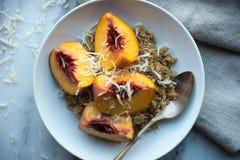 Quinoa Havermoutpap Royalty-vrije Stock Afbeeldingen