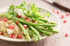 Quinoa i asparagusa sałatka Zdjęcie Stock