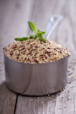 Quinoa in a measuring cup. Raw dry quinoa in a measuring cup Stock Photography