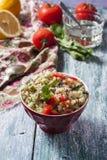 Quinoa med grönsaker Arkivfoto