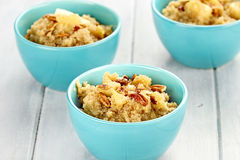 Quinoa with Nuts and Apples Stock Photography