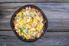 Quinoa orange and cilantro salad Royalty Free Stock Photography
