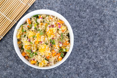 Quinoa orange and cilantro salad Stock Photo