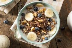 Quinoa orgânico do café da manhã com porcas imagem de stock royalty free