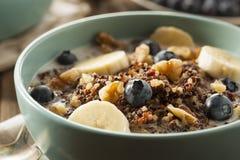 Quinoa organique de petit déjeuner avec des écrous photo libre de droits