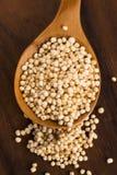 Quinoa popping Stock Photo