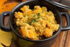 Quinoa with pumpkin Stock Image