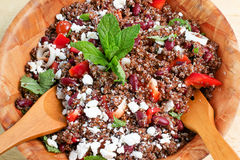 Quinoa and red beans salad Stock Photos