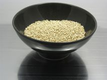 Quinoa on reflecting matting Royalty Free Stock Photography