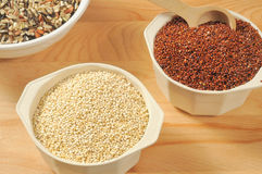 Quinoa and rice Stock Photo
