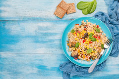 Quinoa sałatka Superfoods pojęcie fotografia stock