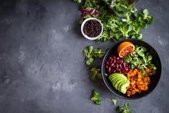 Quinoa sałatki tło obraz stock