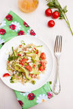 Quinoa salad. Refreshing and healthy quinoa salad with zucchini and tomatoes Stock Photos