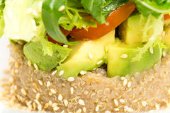 Quinoa salad with avocado and cherry tomatoes. Royalty Free Stock Photos