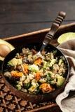 Quinoa salad in a bowl stock photos