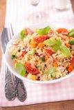 Quinoa salad. Close up on quinoa salad Stock Image