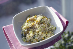 Quinoa salad with corn and cucumber Royalty Free Stock Image