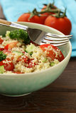 Quinoa salad with cucumber and tomato Royalty Free Stock Image