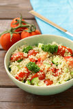 Quinoa salad with cucumber and tomato Stock Photo