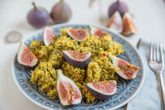 Quinoa salad with fresh figs Royalty Free Stock Photos