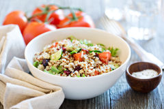Quinoa salad with fresh vegetables Royalty Free Stock Images