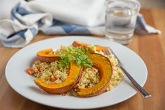 Quinoa salad with grilled pumpkin Royalty Free Stock Images