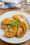 Quinoa salad with grilled pumpkin Royalty Free Stock Image
