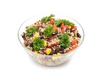 Free Quinoa Salad In Glass Bowl Stock Images - 127494804