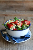 Quinoa salad with strawberry,avocado and spinach Royalty Free Stock Images