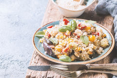 Quinoa salad. Superfoods concept. Royalty Free Stock Image