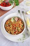 Quinoa salad with vegetables mix,lemon and thyme. Royalty Free Stock Image