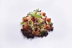 Quinoa salad with vegetables & pomegranate. A healthy roughage and fiber intake. Quinoa salad with vegetables & pomegranate Royalty Free Stock Photo