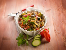 Quinoa sald with vegetables, Stock Photo