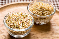 Quinoa seed. Organic food for healthy eating Royalty Free Stock Photo