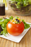 Quinoa Stuffed Tomato Royalty Free Stock Photo