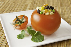 Quinoa Stuffed Tomato Appetizer Royalty Free Stock Images