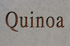 Quinoa Text Engraving Stock Images